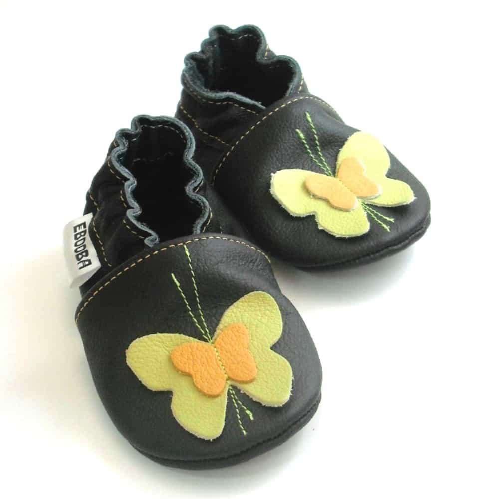 Бабочки оливковые / жёлтые на чёрном