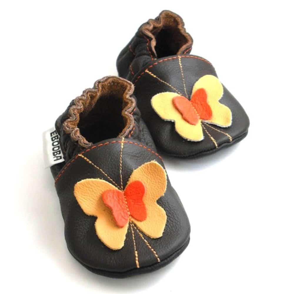 Бабочки жёлтые / оранжевые на тёмно-коричневом